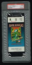 1977 Super Bowl XI Authentic Ticket Stub Oakland 32 vs. Minnesota 14 PSA Slabbed