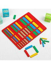 Montessori Educational Mathematics Sticks Wooden Game Counting Logic Puzzle