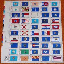 50 State Flags US Stamp Sheet~~Scott #1633-1682~Bicentennial~1976