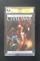 CIVIL WAR #2 VARIANT CGC 9.6 SS STAN LEE SIGNED AVENGERS SPIDER-MAN IRON MAN 1