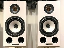 Pair Triangle Comets Ez Speakers Bookshelf White Gloss