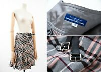 Women's BURBERRY LONDON Blue Label Plaid Skirt Sz 36