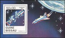 Guinée Bissau 1983 station spatiale/SOYOUZ/Salyut/SHUTTLE/Exploration 1 V M/S (s3484)