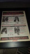 Whitney Houston, Taylor Dane, Four Tops Rare Radio Promo Poster Ad Framed!