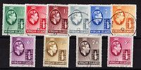 BRITISH VIRGIN IS.1938 SET TO 5/- ON CHALKY PAPER SG 110-119 FINE USED.