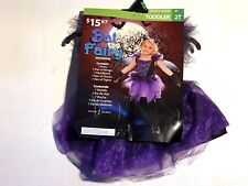 Child Girls Purple and Black Size 2T BAT FAIRY Halloween Costume Dress Up