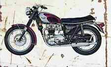 Triumph 650 Bonneville 1970 Aged Vintage SIGN A3 LARGE Retro