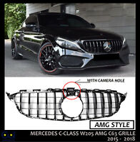 MERCEDES W205 C205 C CLASS AMG C63 PANAMERICANA GRILLE 2015 TO 2018 WITH CAMERA