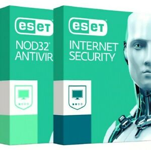 ESET nod32 antivirud and internet security 1 to 3-years. 1 to 3 devices