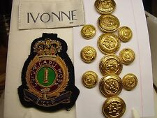 12 IVONNE metal replacement buttons with chest pocket patch good cond,$39.95