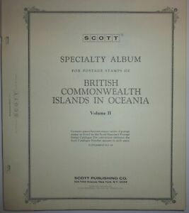 Scott Specialty Album  Pages BRITISH COMMONWEALTH ISLANDS OCEANIA VOL. 2 +stamps
