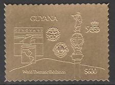 Guyana 6175 - 1992 GENOVA Exn in GOLD - COLUMBUS, ROTARY, LIONS INT