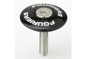 FOURIERS 100% Carbon top cap with stainless bolt Fit on 1-1/8 fork steer TC-S002
