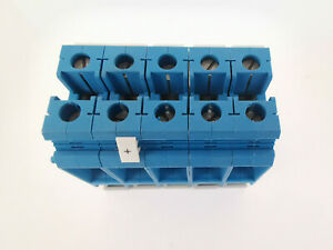 5x Phoenix Contact UK35 Blau Durchgangsklemmen Reihenklemmen 35mm²
