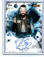 WWE Eric Young 2018 Topps Undisputed Blue On Card Autograph SN 9 of 25