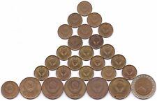 27 COINS RUSSIA  10 ROUBLES, 3 2 1 KOPEKS 1938 - 1991