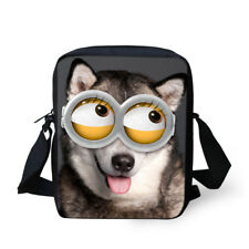 Funny Animal Printed Shoulder Bag Small Messenger Wallet Phone Bag Purse Satchel