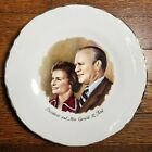 """Vintage 1974 President Gerald Ford & First Lady 9"""" Official Commemorative Plate"""