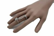 Jewelry Metal Butterfly 7.5 Band Size New Women Silver Wrap Around Ring Fashion