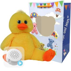 16 inch Daffy Duck - Pre-Stuffed Baby Heartbeat Teddy Bear & Voice Recorder