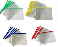 12 x A5 Zip Zippy Bags -Document Clear Plastic Transparent Storage Wallet-0.14mm