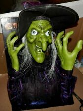 Halloween Hanging Witch With Led Eyes & Spooky Sounds 6 Foot Tall Yikes 172X