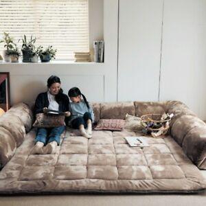 Perfect Warm smooth kotatsu Corner cushion rug L C shaped mat 190x190 190x240 cm