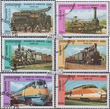 Cambodge 2054-2059 oblitéré 2000 chemins de fer