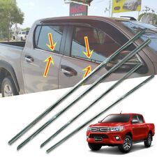 COVER LINE WINDOW SILL CHROME TRIM FIT FOR TOYOTA HILUX REVO M70 M80 2015-2017