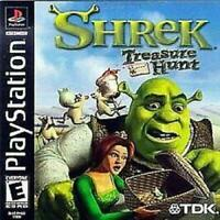 Shrek Treasure Hunt Playstation Game PS1 Used Complete