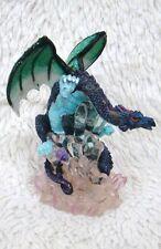 "6"" Dark Blue and Green Dragon Figurine, Decorative, Collectible, Fantasy"