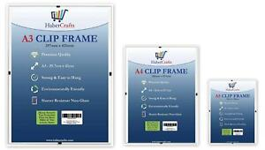Clip Frame Frameless Picture Frame Photo Poster Certificate Non Glass