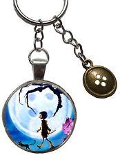 coraline charm figure keyring button moon