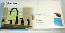 NEW Moen Edison Spot Resistant High Arc Kitchen Faucet 87042BRB Oil Bronze spray