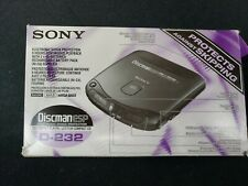 SONY Discman D-232 In box adapter Earphone Battery pack made Japan