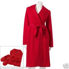 2 Piece Sleepwear Robe & Slippers Set ~ Size Medium (8-10) ~ NWT