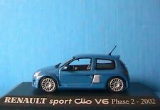 RENAULT SPORT CLIO V6 PHASE 2 2002 1/43 BLEU BLAU BLUE