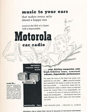 1952 Motorola Radio -  Classic Vintage Car Advertisement Ad J41