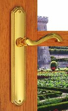 Privacy Door Lever  Handles Hardware Chateau Right Hand Distressed Light Bronze