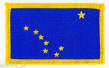 Ecusson Brodé PATCH drapeau ALASKA USA AMERICAIN ETATS UNIS FLAG EMBROIDERED