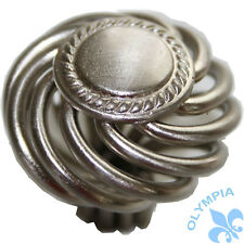 "25 Cabinet Knobs Birdcage Knob Satin Nickel 1-1/2"" Diameter-1203"