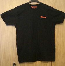 JAGERMEISTER Beer Logo Black (L) LARGE Tagless V-Neck Tee Shirt Soft Lightweight