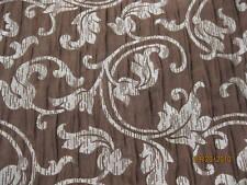 1 Yard Crushed Floral Swirls Design Drapery Fabric.