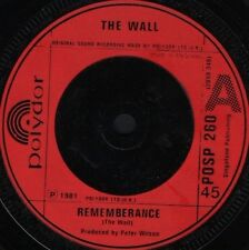 "WALL remembrance 7"" WS EX/ uk polydor POSP 260"