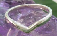"""100% Real 925 sterling silver plain """"THICK"""" Wishbone ring big size 4 to 13 -GIRL"""