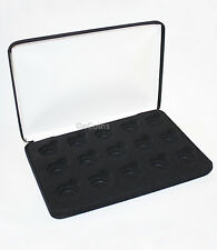 Black Felt COIN DISPLAY GIFT METAL PLUSH BOX holds 15-Quarter or Presidential $1
