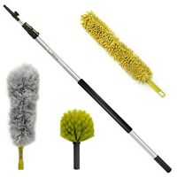 DocaPole High Reach Dusting Kit - 12 ft Extension Pole + 3 Dusting Attachments