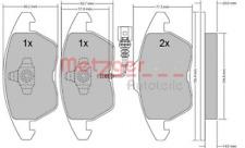 Bremsbelagsatz, Scheibenbremse für Bremsanlage Vorderachse METZGER 1170007
