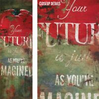"12W""x36H"" YOUR FUTURE AS YOU IMAGINED by RODNEY WHITE - TOMATO GRAFFITI CANVAS"