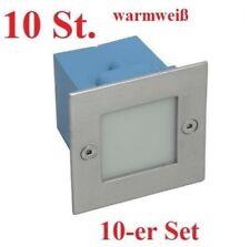 10erSet LED Wandeinbauleuchte TAXI 0,6W Treppenspot warmweiß Treppenleuchte IP54